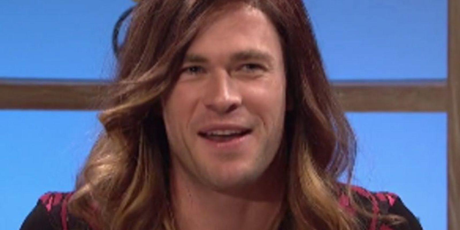 Chris Hemsworth se convirtió en mujer para SNL: Foto:vía NBC. Imagen Por: