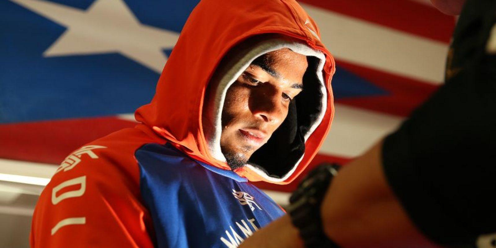 """Félix """"Diamante"""" Verdejo llevó a cabo un entrenamiento público en Nueva York días antes de su pelea contra el brasileño invictoWilliam """"Baby Face"""" Silva. Foto:Mikey Williams. Imagen Por:"""
