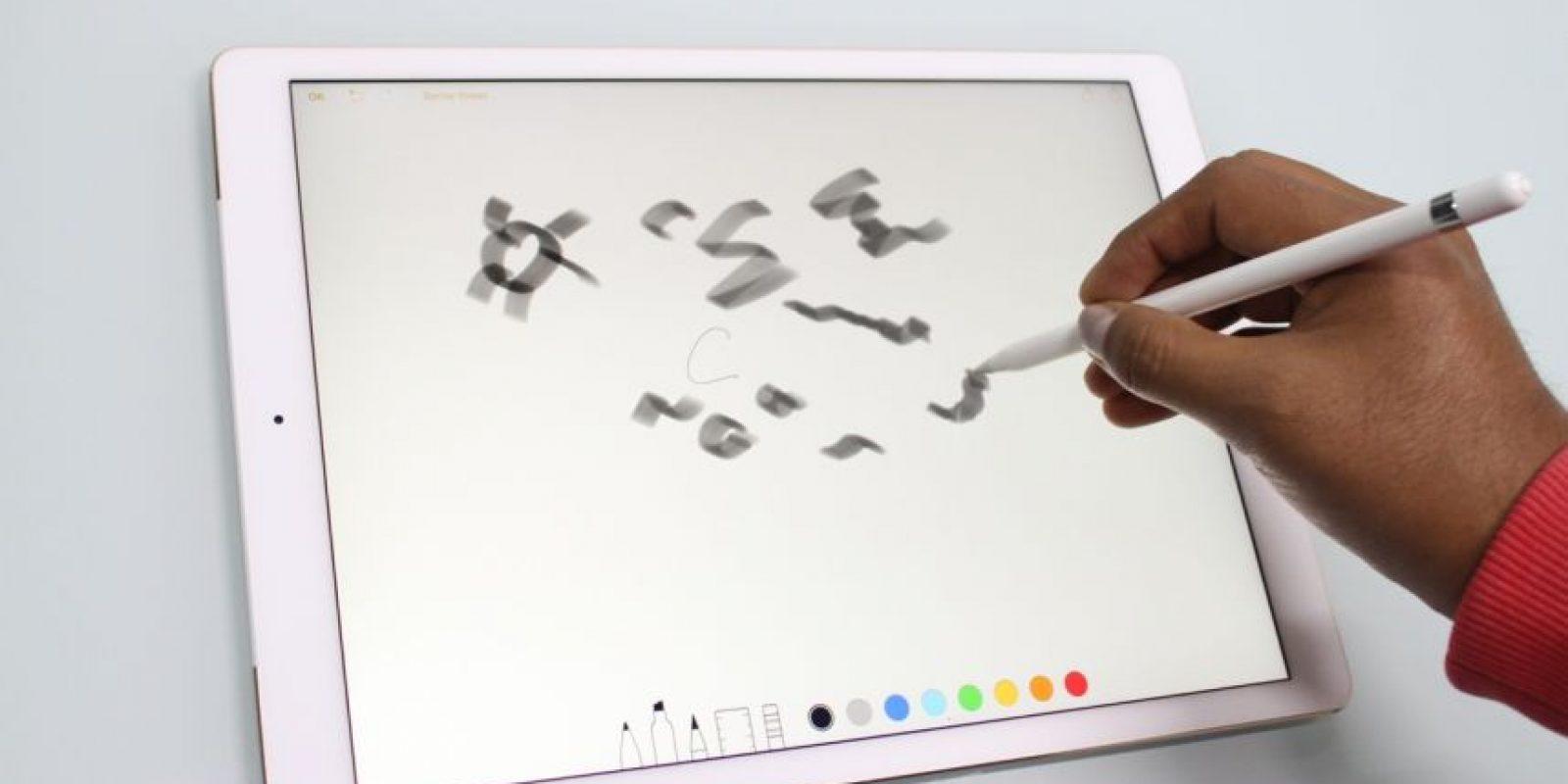 Apple Pencil está pensado para diseñadores. Foto:Nicolás Corte. Imagen Por: