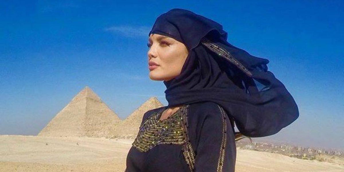 Fascinada Zuleyka con la cultura egipcia