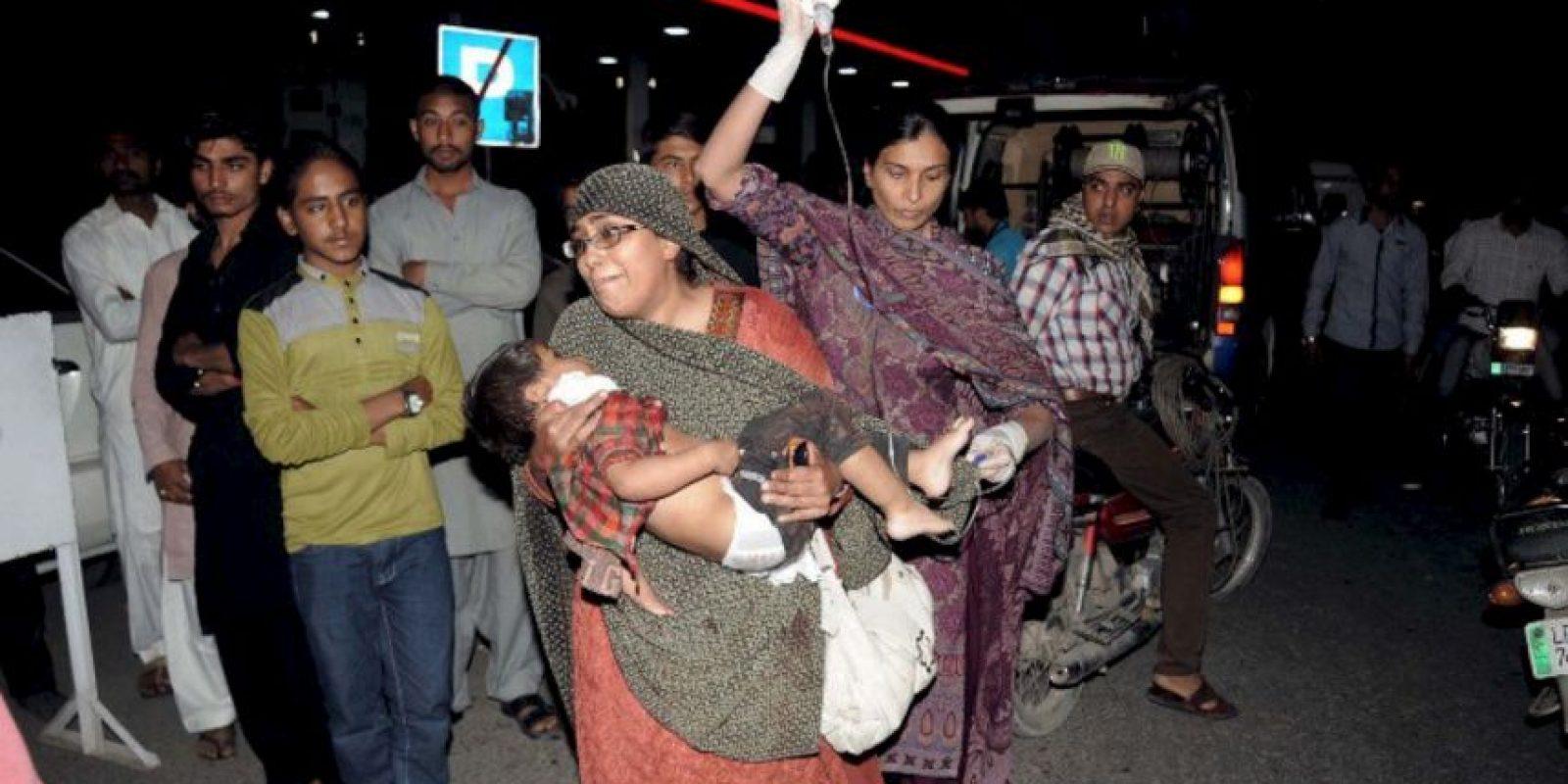 Así fueron los momentos después de las detonaciones. Foto:AP. Imagen Por: