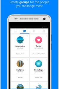 En ella pueden crear grupos de contactos para conversar. Foto:Play Store. Imagen Por:
