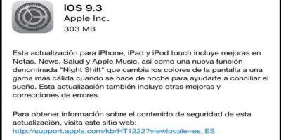 Al momento, miles de usuarios comenzaron a actualizar sus dispositivos. Foto:Apple. Imagen Por: