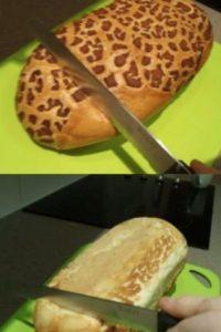 Cortar pan: se pone por el revés y así se tendrá una cortada exacta. Foto:vía Tumblr. Imagen Por: