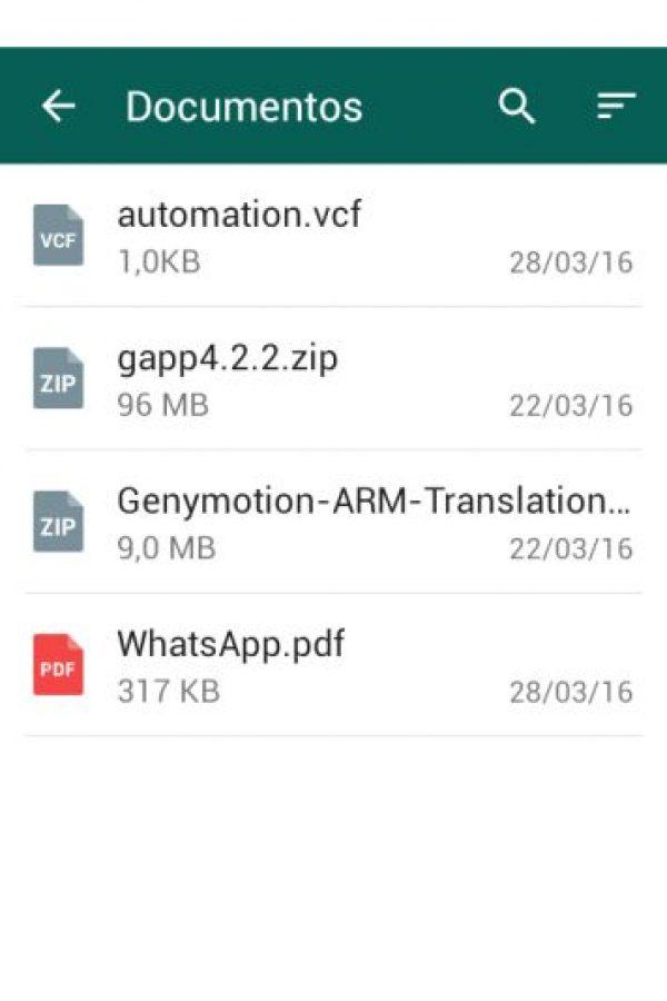 Una de las nuevas funciones es poder mandar archivos comprimidos. Foto:WhatsApp. Imagen Por: