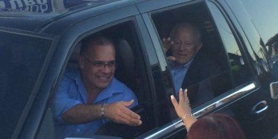 Carlos Romero Barceló al momento de llegar a la actividad de Pierluisi. Foto:Redes sociales. Imagen Por: