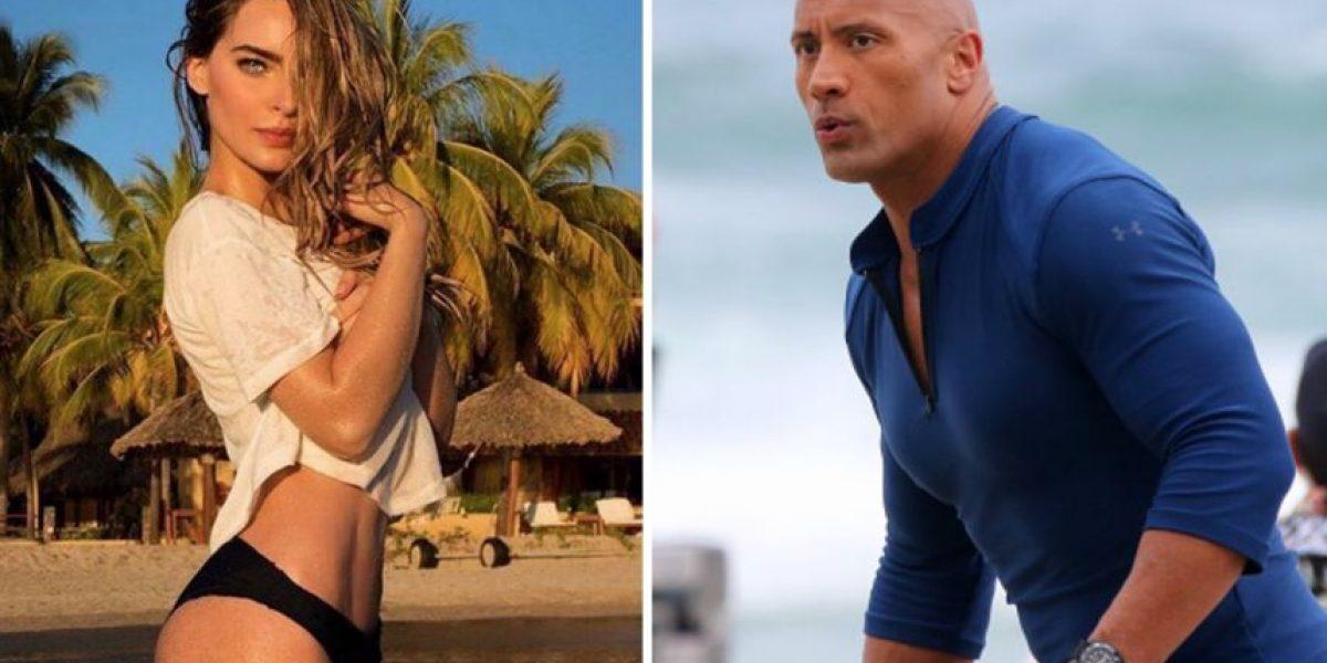 """Belinda y """"The Rock"""" encienden las redes sociales"""
