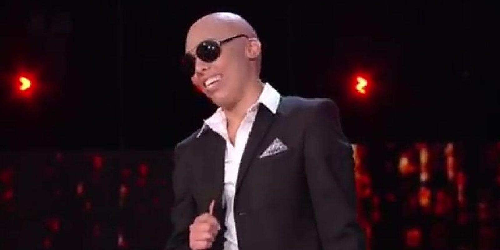 Zoila Ceballos imitó a Pitbull. Foto:captura de pantalla. Imagen Por: