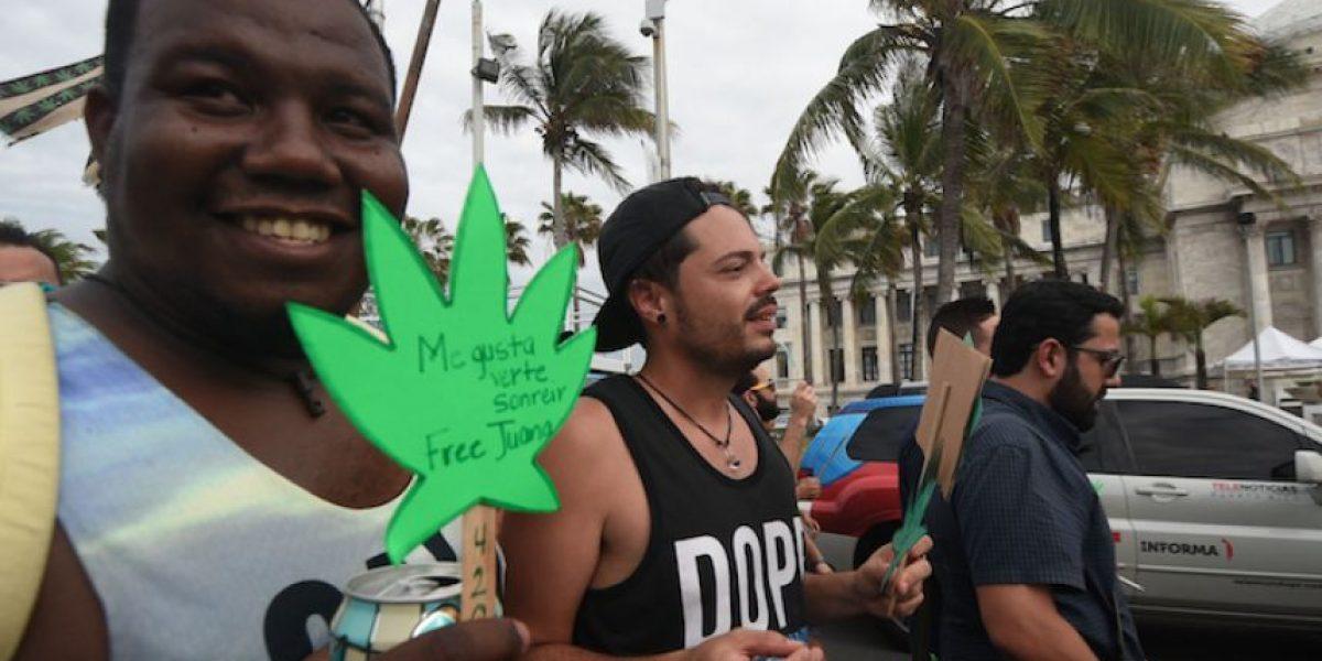 Manifestación a favor de la marihuana termina con el arresto de 17 personas