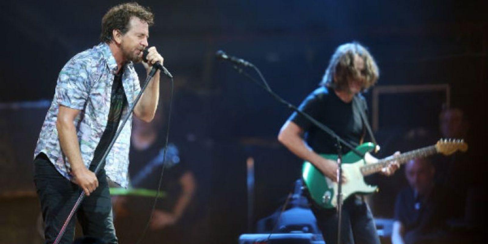 O la banda estadounidense Pearl Jam. Foto:Getty Images. Imagen Por: