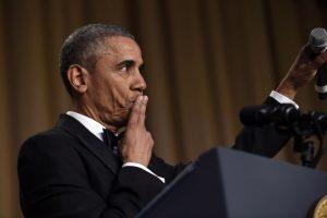 El presidente de Estados Unidos, Barack Obama, concluye su intervención durante la cena anual de Corresponsales de la Casa Blanca, en el Washington Hilton, en Washington, el sábado 30 de abril de 2016. Foto:AP. Imagen Por:
