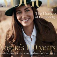 """Aquí aparece Kate en la portada de """"Vogue"""". Foto:vía Vogue. Imagen Por:"""