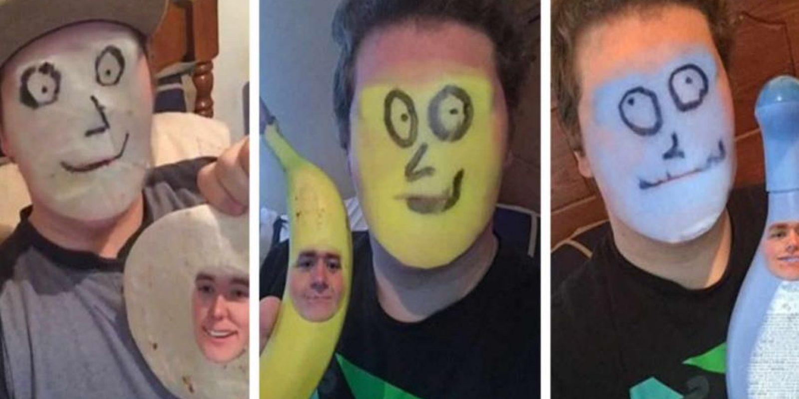 Y usar Snapchat para cambiar tu rostro. Foto:Twitter/@Swollen_Nolan. Imagen Por: