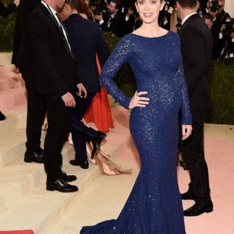 Emily Blunt, preciosa para cualquier evento. Pero no para el tema. Foto:vía Getty Images. Imagen Por: