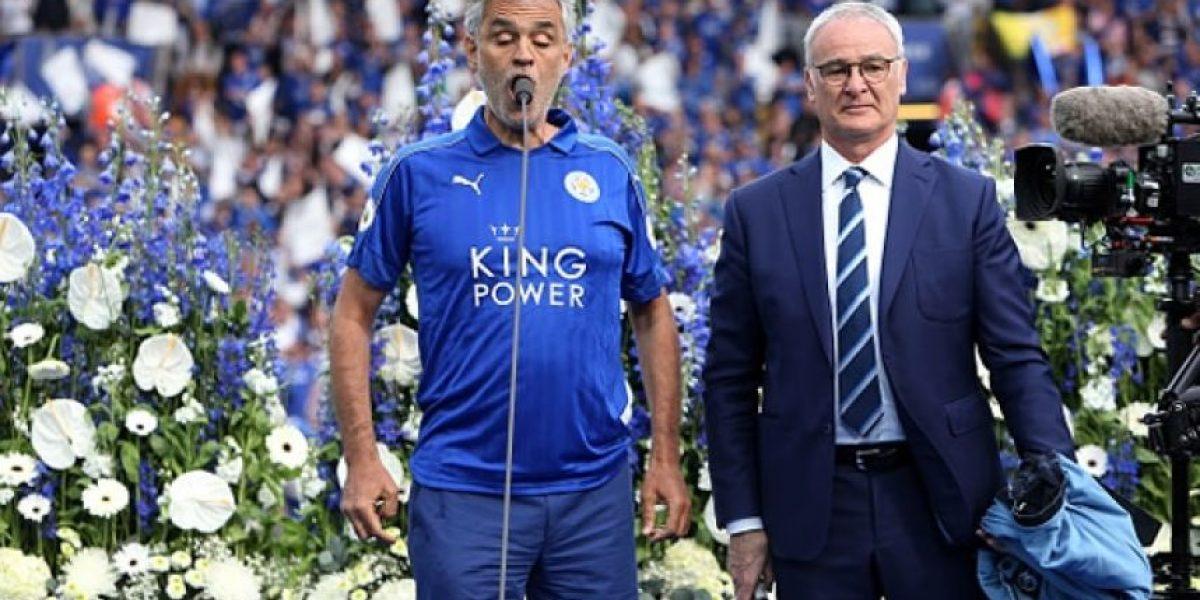 VIDEO: ¡Promesa cumplida! Andrea Bocelli cantó para el Campeón Leicester