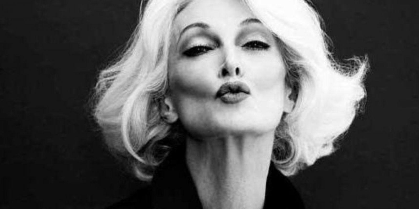 Carmen Dell' Orefice es una de las modelos más veteranas del mundo. Está en el trabajo desde la década del 50 Foto:Vía Facebook. Imagen Por: