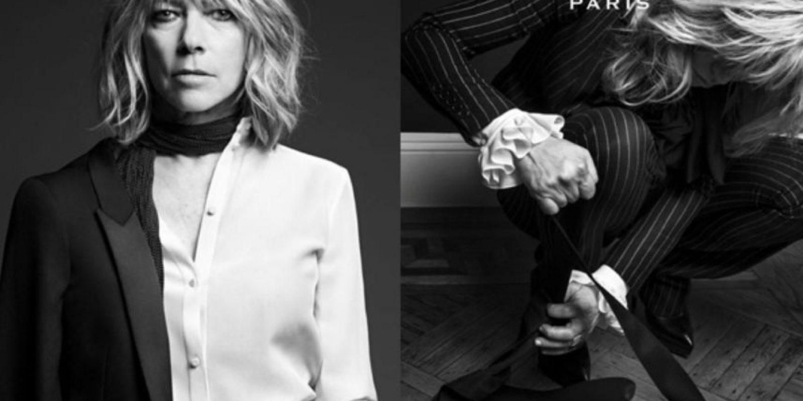 Jonni Mitchel también modelo para Saint Laurent. Foto:Vía Saint Laurent. Imagen Por: