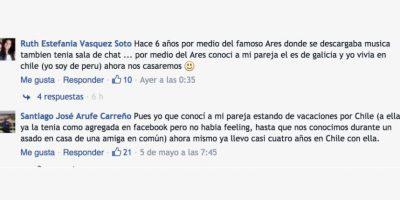 Demostrando que el amor en línea sí es posible y puede tener un final feliz. Foto:Comentarios en Facebook. Imagen Por: