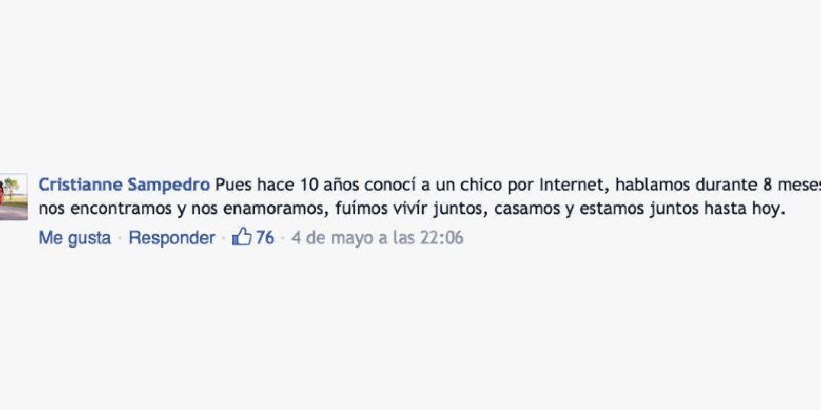 En Facebook muchas personas han comenzado a contar sus historias de amor. Foto:Comentarios en Facebook. Imagen Por: