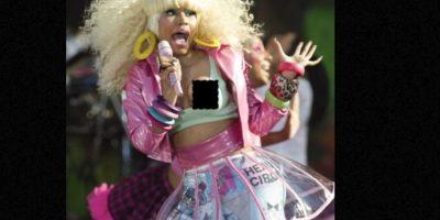 Nicki Minaj y su pezón. Foto:vía Getty Images. Imagen Por: