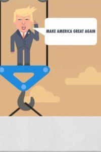 En la app ustedes encontrarán frases de Donald Trump, como su eslogan de campaña Foto:The Blu Market. Imagen Por: