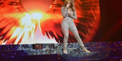 La cantante se presentó en la fiesta de Telemundo Foto:Getty Images. Imagen Por: