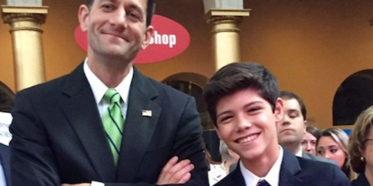 Joven boricua aboga por P.R. ante el Speaker Cameral de EE.UU.