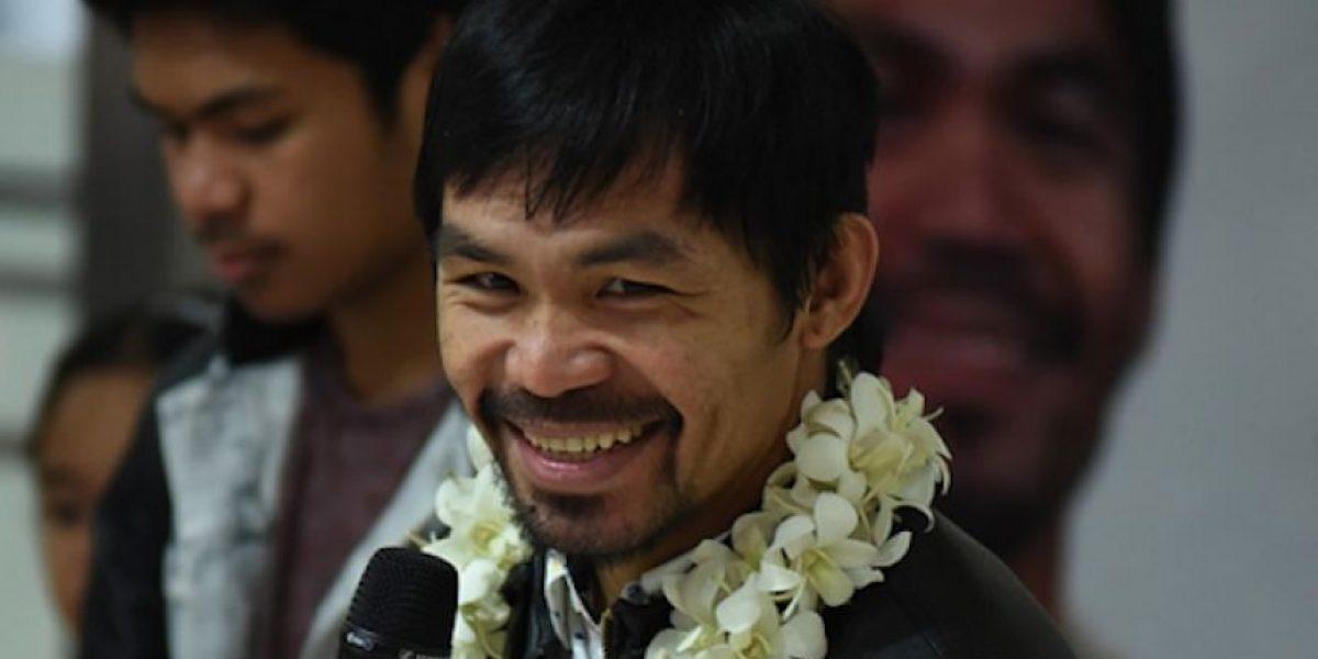 Pacquiao ya es senador y va por la presidencia de Filipinas