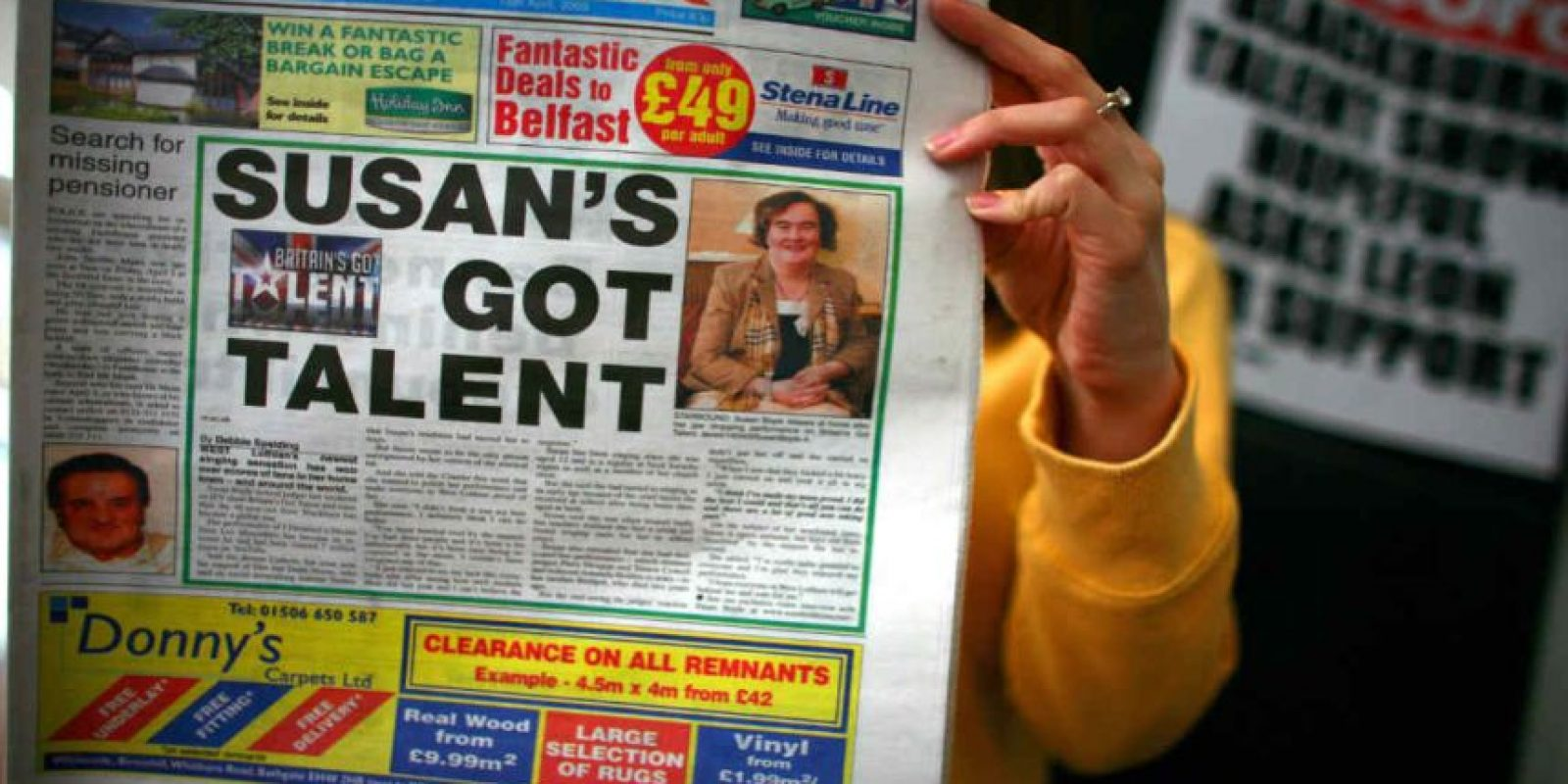De ahí salió la famosa Susan Boyle. Foto:Getty Images. Imagen Por: