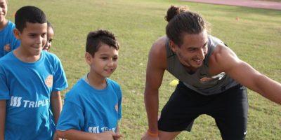 Niños y niñas recibieron clínicas de los jugadores del PRFC. Foto:Suministrada. Imagen Por: