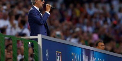 Interpretó el Himno de la Champions League. Foto:Getty Images. Imagen Por: