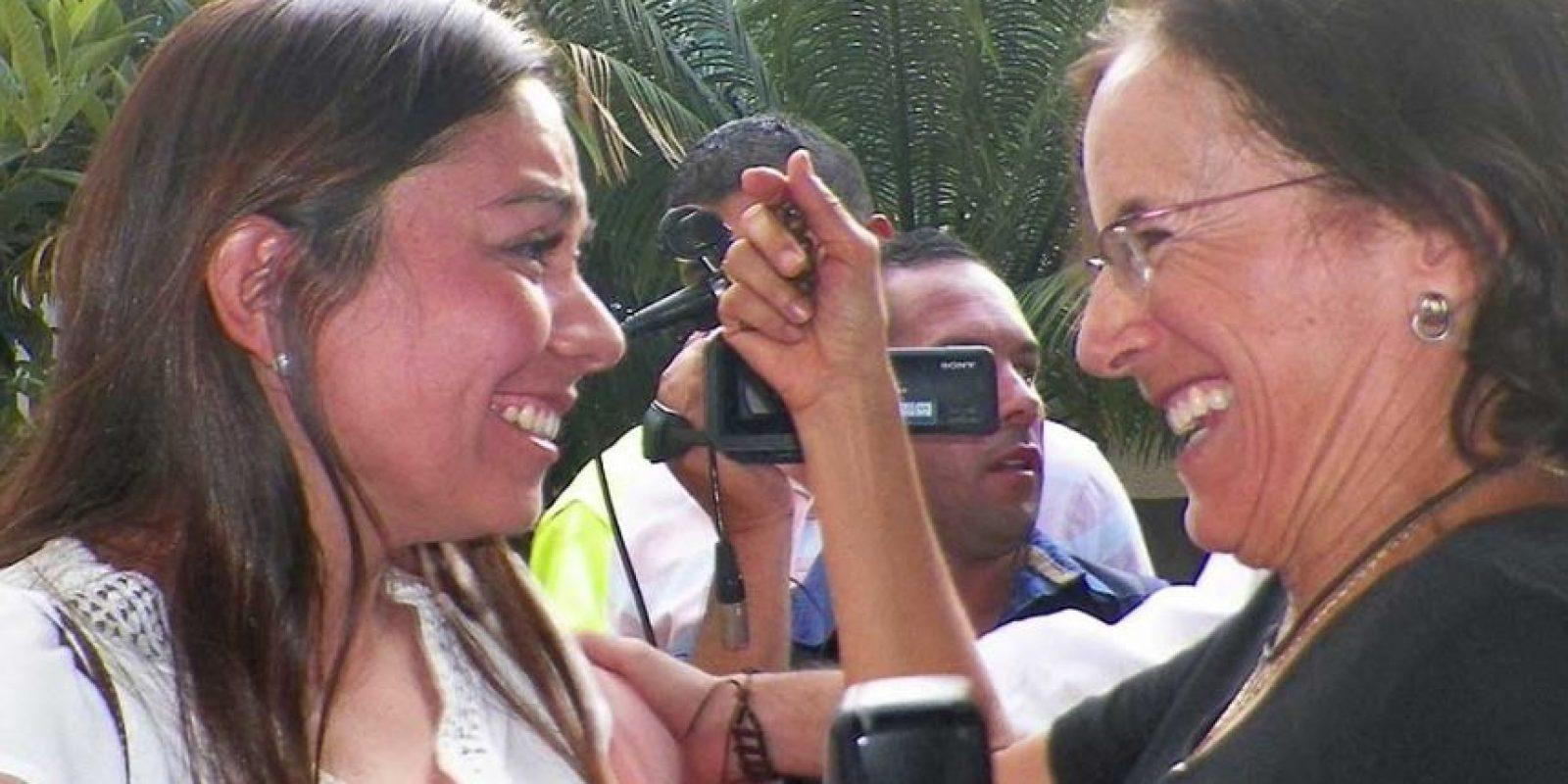 Salud Hernández Mora fue la primera en obtener su libertad Foto:AP. Imagen Por: