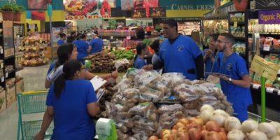 En la actividad participaron alrededor de 100 estudiantes de bachillerato en Enfermería, divididos en grupos de cuatro personas. La cadena de supermercados Plaza Loíza colaboró en el proyecto. Foto:Suministrada. Imagen Por: