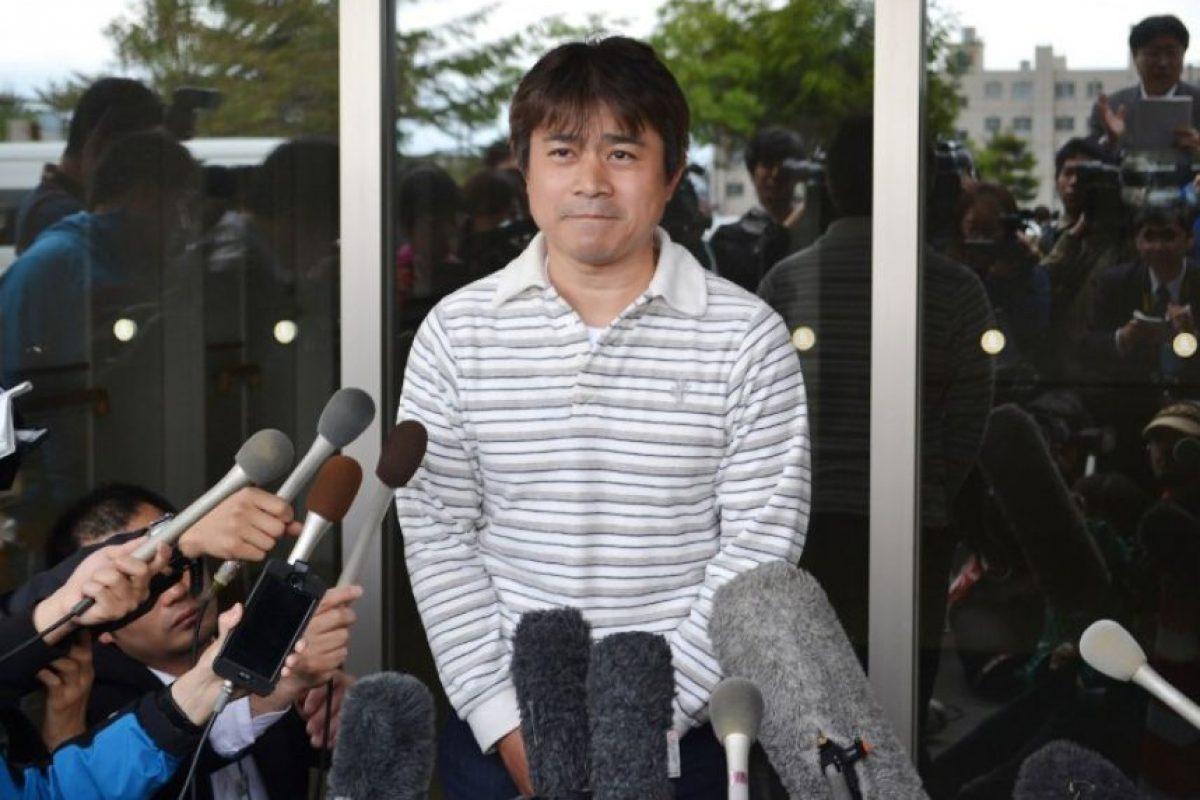 Takayuki Tanooka ofreció una conferencia de prensa Foto:AFP. Imagen Por: