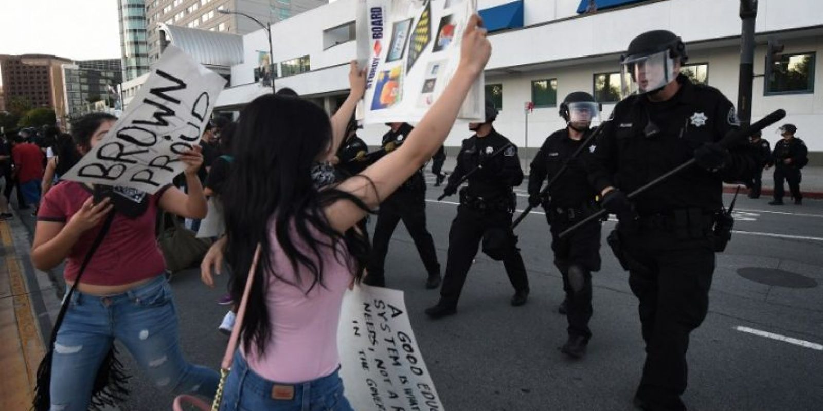 De acuerdo al Departamento de Policía, hubo algunos arrestos, sin detallar cuántos, informó CNN Foto:AFP. Imagen Por: