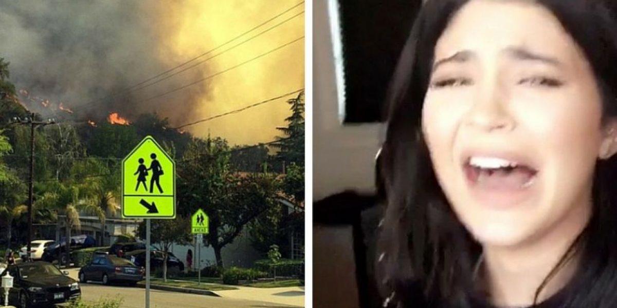Kim Kardashian y Kylie Jenner desalojan residencia tras incendio