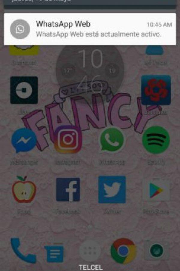 Ahora, en cuanto se abra sesión en web, WhatsApp pondrá una notificación en su pantalla. Foto:WhatsApp. Imagen Por: