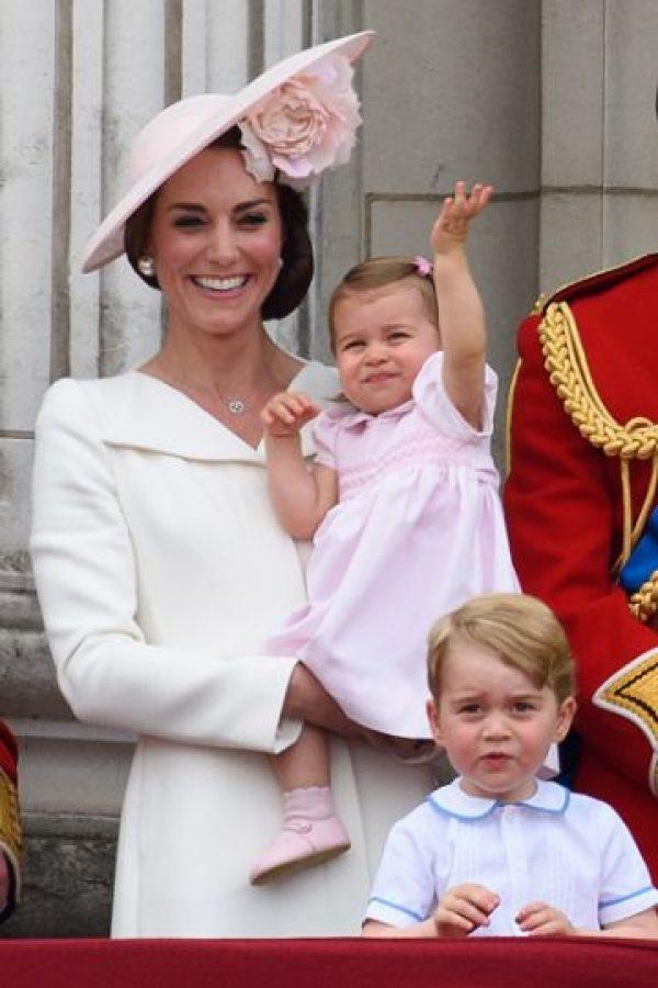 Charlotte llevaba un vestido rola pálido Foto:Getty Images. Imagen Por: