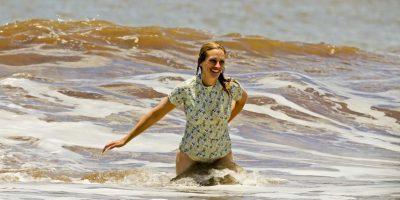 Así lucía la actriz en la playa Foto:Grosby Group. Imagen Por: