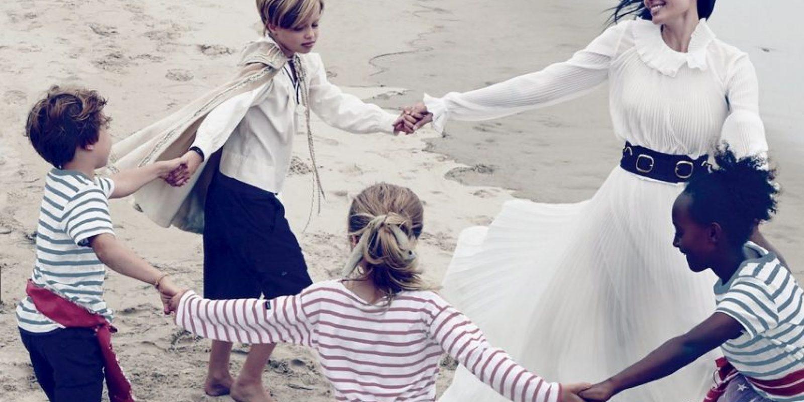 La familia Jolie-Pitt Foto:Vogue. Imagen Por: