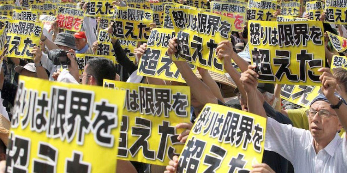Unos 50 mil japoneses protestan contra las bases de Estados Unidos