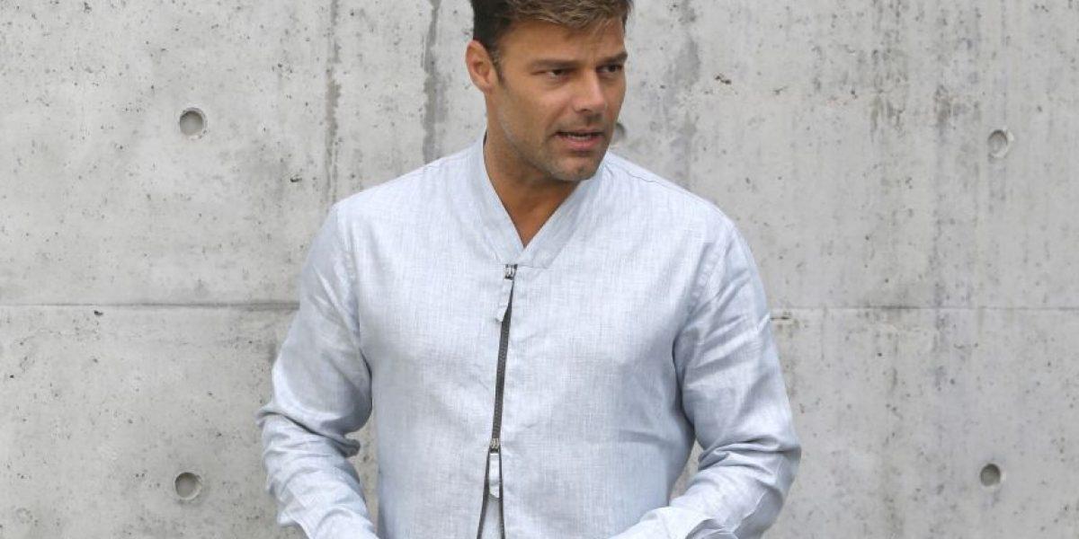 Ricky Martin en primera fila para show de Armani en Milán