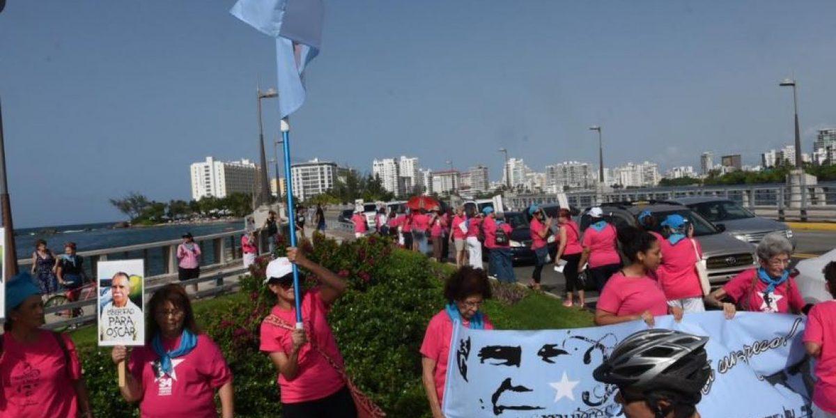 Mujeres exigen liberación de Oscar López Rivera
