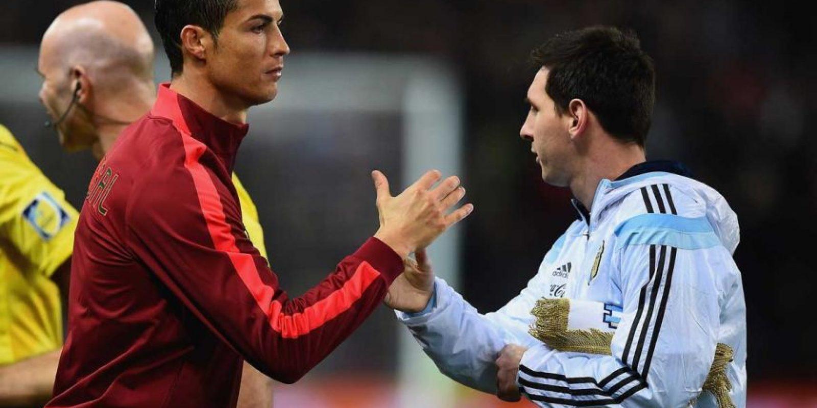 """Fuera de la cancha, Leo y """"CR7"""" se respetan como profesionales y se admiran mutuamente. Foto:Getty Images. Imagen Por:"""