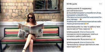"""Así participan en la campaña """"Desnúdate y trabaja"""" Foto:Instagram.com. Imagen Por:"""