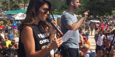 """""""Vivir despiertos, mi querida familia LGBTTQI es luchar juntos, es solicitar a todos los que somos parte de esta comunidad a marchar"""", afirmó la cantautora entre aplausos de los miles de presentes. Foto:David Cordero Mercado. Imagen Por:"""