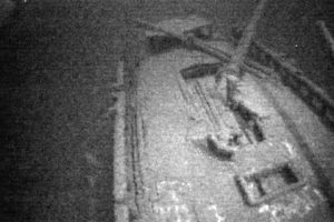 Imagen de los restos del buque canadiense, Royal Albert, hallado recientemente y que se hundió en el Lago Ontario en 1868. Imagen tomada de video, suministrada por Jim Kennard. Foto:AP. Imagen Por: