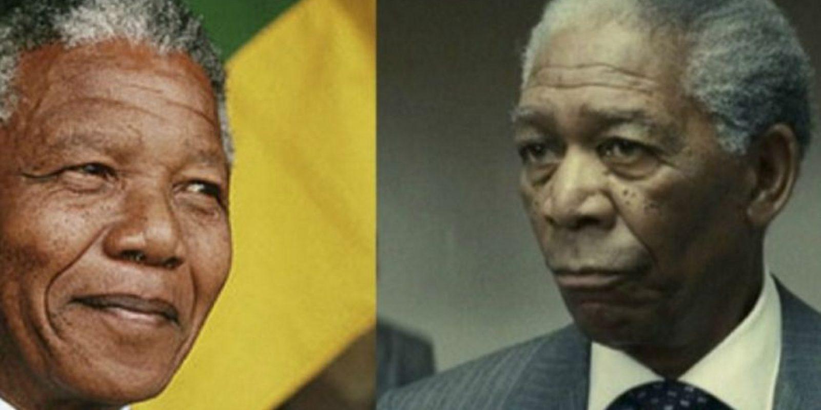 Nelson Mandela – Morgan Freeman Foto:imgur.com. Imagen Por: