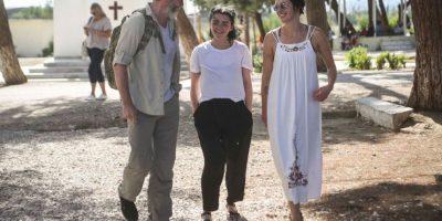 El viaje a Lesbos y los campos de refugiados fue organizado el Comité Internacional de Rescate.. Imagen Por: