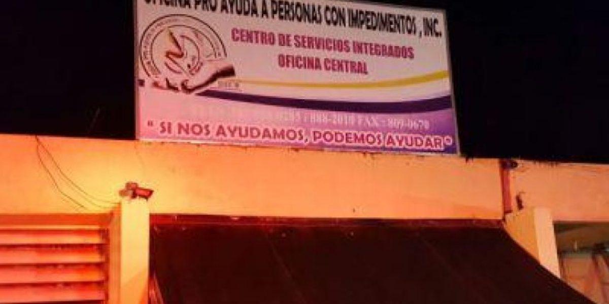 Se incendia oficina Pro Ayuda a Personas con Impedimentos